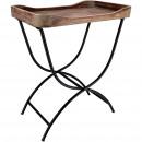 Wooden table Sloe, L48cm, B33cm, H57cm, natural